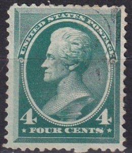US #211 F-VF Used CV $25.00 (Z2429)