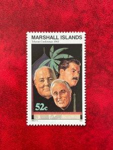 1993 Marshall Islands Stamp SC#475 52c WWII  Teheran Conference MNH