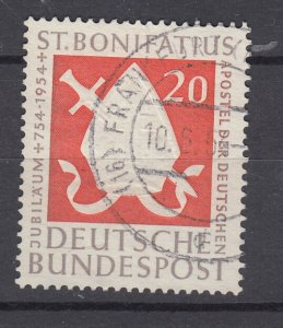 J28703, 1954 germany set of 1 used #724 sword etc