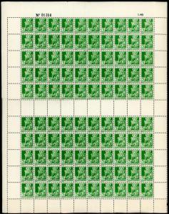 Algeria sc#146 Unused NH Full Sheet of 100