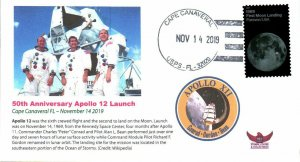 2019 Apollo 12 50th Anniv. Launch Lunar Landing Mission Cape Canaveral 14 Nov