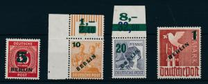 [23972] West Germany Berlin 1944 Germany Stamps Surcharged BERLIN MNH VF