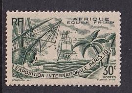French Equatorial Africa   #28   MNH  1937 Paris exhibition  30c