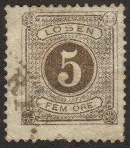 Sweden #J14 (perf 13) used 5-ore