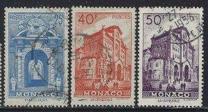 Monaco 1949 Landscapes & Buildings set Sc# 228-32 used
