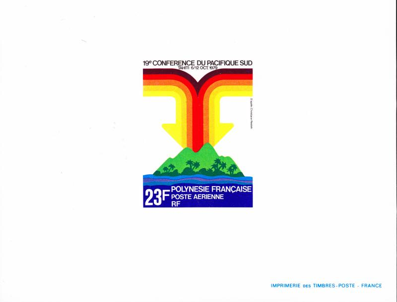 French Polynesia 1979 No.C171 Deluxe Sheet South Pacific Conference