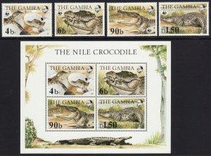 1984 Gambia WWF full set w/ souvenir sheet SS MNH Sc# 515 / 518 518A CV $55.50