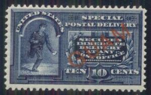 GUAM #E1 10¢ Special Delivery, og, NH, VF, Miller certificate