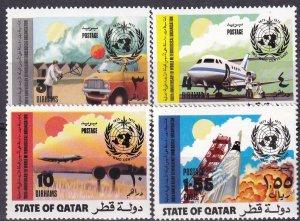 Qatar #348-9, 351, 353 MNH CV $23.20   (Z3227)