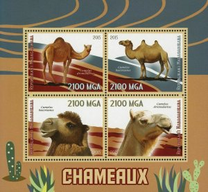 Madagascar Camel Wild Animal Souvenir Sheet of 4 Stamps Mint NH