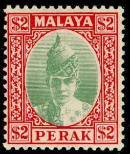 MALAYSIA - Perak SG120, $2 green & scarlet, LH MINT. Cat £250.