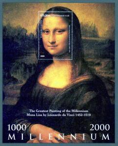 Turkmenistan 2000 Mona Lisa s/s Perforated mnh.vf