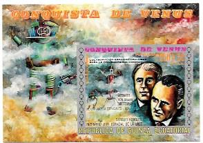 Equatorial Guinea. Souvenir Sheet - Airmail. Space. Conquest of Venus