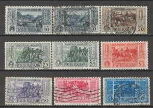 COLLECTION LOT # 4313 ITALY 9 STAMPS 1932 CLEARANCE CV+$25