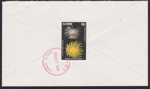 GB LUNDY 1980 cover Lundy meter - 11½p marine reserve on reverse............5152