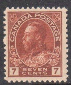 Canada #114iv  VF OG NH MINT C$450.00 -- Diagonal Line in V of Seven Pl.7