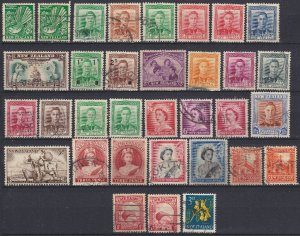 New Zealand used stamps from an old album, 1930s-60s