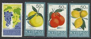 Cyprus #412-415 MNH Set of 4