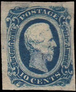 Confederate States Scott 12 Mint never hinged.
