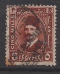 Egypt Scott#  135  used  single