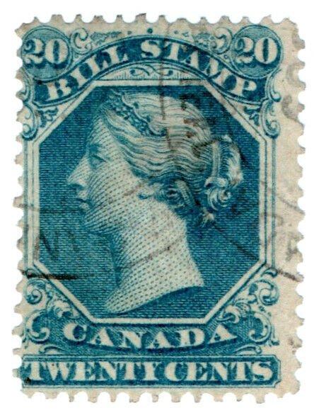 (I.B) Canada Revenue : Bill Stamp 20c
