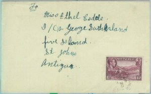 83368 - MONTSERRAT - POSTAL HISTORY -   COVER to ANTIGUA 1947