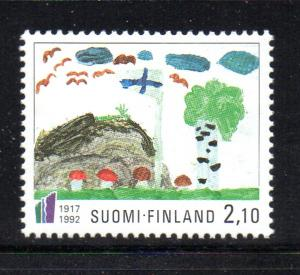Finland Sc 896 1992 Child's Painting stamp mint NH