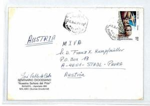 ECUATORIAL GUINEA Cover *Malabo* Air Mail MIVA Missionary 1991 AUSTRIA CM175