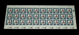 1966, ISRAEL #313, ROAD SAFETY, SHEET/30, 0.02, MNH, NICE LQQK