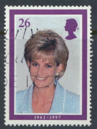 Great Britain SG 2022 Used    - Diana Princess of Wales