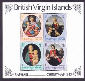 Virgin Islands 461a MNH 1983 Raphael Paintings Christmas Souvenir Sheet of 4