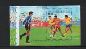 Guinea MNH S/S 1291 World Cup Soccer 1998