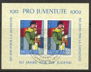 Switzerland, 1962 Pro Juventute Souvenir Sheet, used, no faults