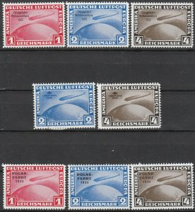 Stamp Germany Graf Zeppelin Reprint Set Polar Chicago Filler MNG