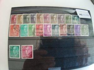 Spain General Franco 1955-56+1974-75 (complete) missing 1,40 Pst