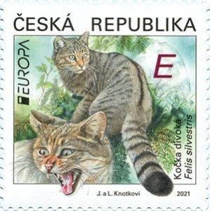 Czech Republic 2021 MNH Stamps Europa CEPT Wildcats Endangered Animals