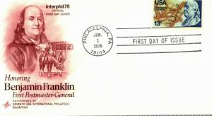 Bargains galore US #1690  13c Ben Franklin Artcraft unaddressed FDC