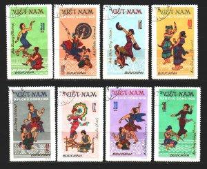 Vietnam. 1972. 709-16. Folk dances. USED.