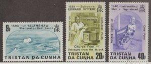Tristan da Cunha Scott #393-394-395 Stamps - Mint NH Set