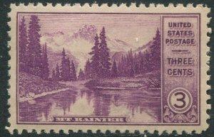 742 3c Mt Rainier National Park - Mint NH OG XF