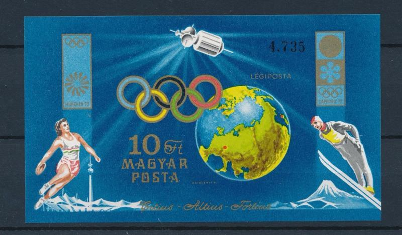 [46688] Hungary 1972 Olympic games Munich Sapporo Imperforated MNH Sheet