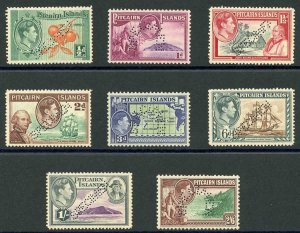 Pitcairn Islands SG1/8 1940 1/2d to 2/6 Perf SPECIMEN U/M Cat 1400 pounds