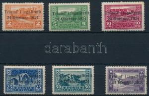 Albania stamp Government over throw set 6 values Hinged 1925 Mi 105-110 WS235988