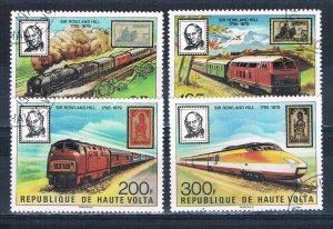 Burkina Faso 501-04 Used set Trains 1979 (HV0190)+