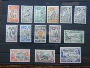 Nigeria 1953 - 1958 set to £1 MNH