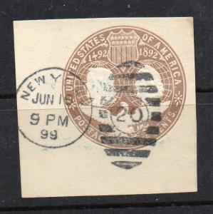 U350 Used Jumbo dated NY cancel and #28 Grid cancel