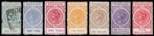 South Australia Scott 137-142 (1904-07) Mint/Used H F-VF, CV $265.25 M