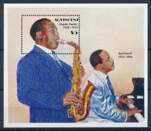 [95048] St. Vincent 1989 Music Jazz Charlie Parker Bud Powell Piano Sheet MNH