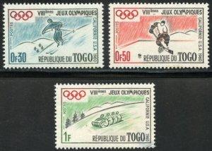Togo Scott 369-71 8th Winter Olympic Games - Unused F-VFHOG - SCV $1.35