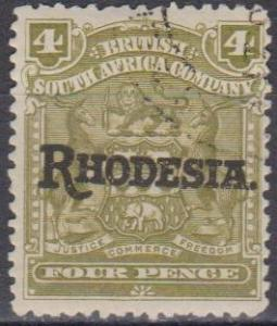 Rhodesia #87 F-VF Used CV $3.00 (A6654)